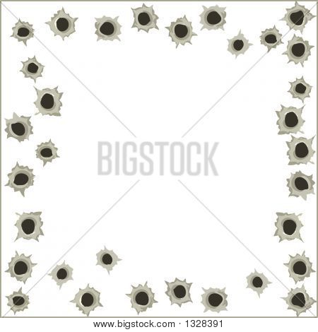 Bullet Holes Background - Vector Illustration