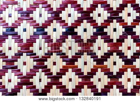 colorful texture of Water hyacinth weave for background