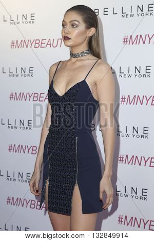 LOS ANGELES - JUN 3:  Gigi Hadid at the Maybelline New York Beauty Bash at the The Line Hotel on June 3, 2016 in Los Angeles, CA