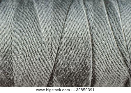 a gray thread as a background macro
