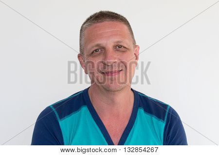 Portrait of a man alone looking to camera close up