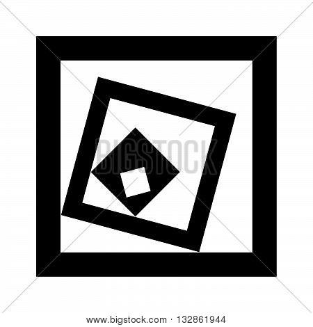 Recursion, set of diminishing black square frames