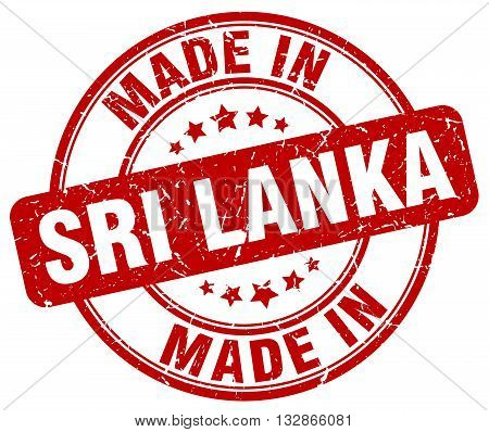 Made In Sri Lanka Red Round Vintage Stamp.sri Lanka Stamp.sri Lanka Seal.sri Lanka Tag.sri Lanka.sri
