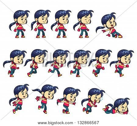 Action Girl Game Vector & Photo (Free Trial) | Bigstock