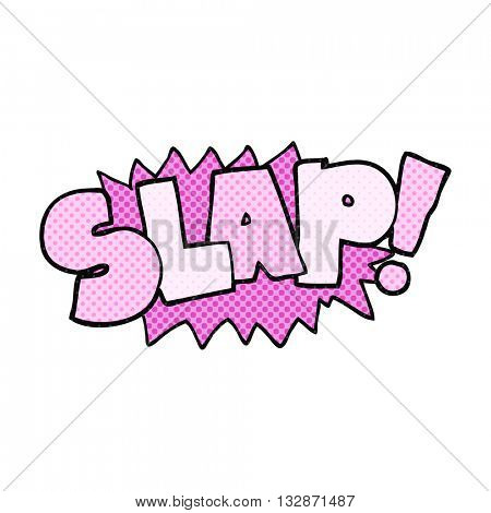 freehand drawn cartoon slap symbol