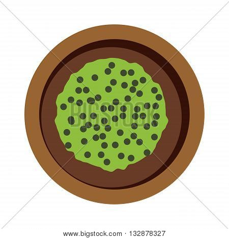 Pease pudding porridge with split yellow green peas. Green pease pudding natural food and fresh pease pudding dish. Vector pease pudding cuisine dinner english delicious nutrition.