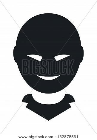 Anonymous man face and anonymous face man with hidden face vector illustration. Anonymous face unknown user people and black silhouette anonymous face. Mystery profile man unnamed question symbol.
