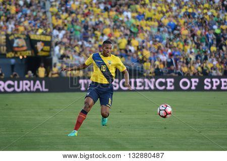Ecuatorian Soccer Antonio Valencia During Copa America Centenario