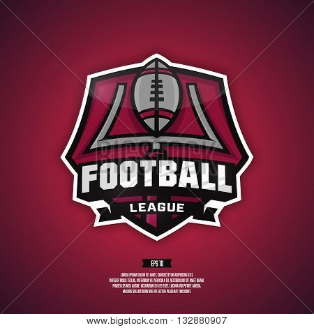 Modern professional logo for a football league.