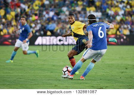 Filipe Luis 6, Antonio Valenca Fighting For The Ball During Copa America Centenario