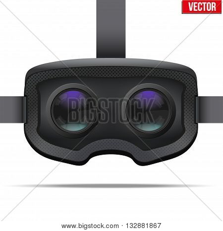 Original stereoscopic 3d vr headset. Inside view. Vector illustration Isolated on white background.