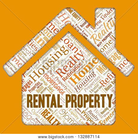 Rental Property Represents Real Estate And Apartments