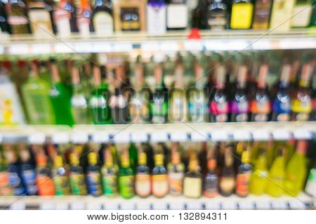 Supermarket With Blurred Bokeh Background Store