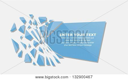 CRUSHED ELEMENTE TEMPLATE MESSAGE STICKER BLUE for web and other