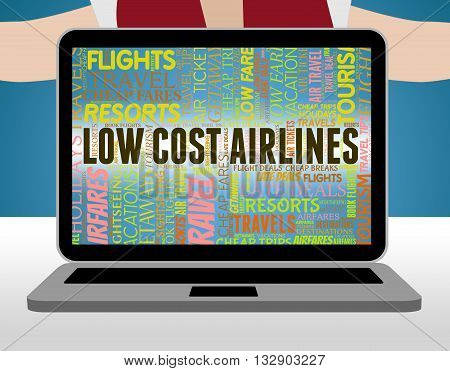 Low Cost Airlines Means Promotional Promotion And Discount