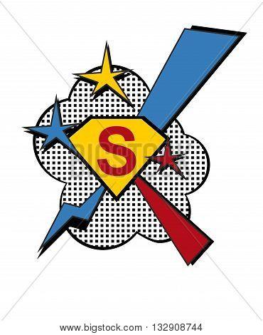 Superhero Logo Power Symbol.