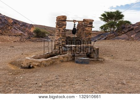 water well in Sahara desert Morocco Africa