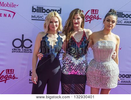 LAS VEGAS - MAY 22 : (L-R) Actresses Kristen Bell Kathryn Hahn and Mila Kunis attend the 2016 Billboard Music Awards at T-Mobile Arena on May 22 2016 in Las Vegas Nevada.