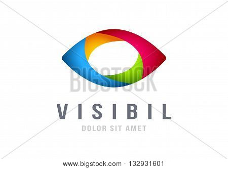 Eye Logo abstract colorful design vector template. Business multi-use logotype concept icon.