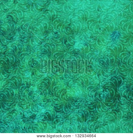 Ornamental green pattern grunge old style with decorative elementas print