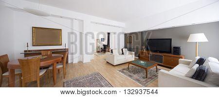 luxury contemporary living room in  apartment interior