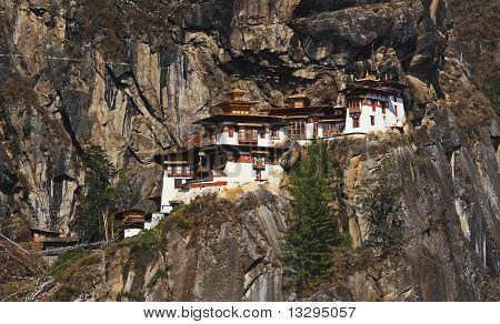 Taktshang Monastery (tiger's Nest) In Bhutan