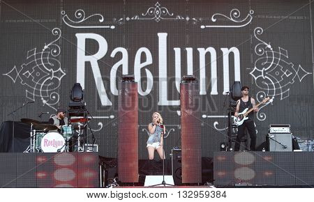 NEW YORK-JUN 26: Country musician RaeLynn performs onstage at the 2015 FarmBorough Festival - Day 1 at Randall's Island on June 26, 2015 in New York City.