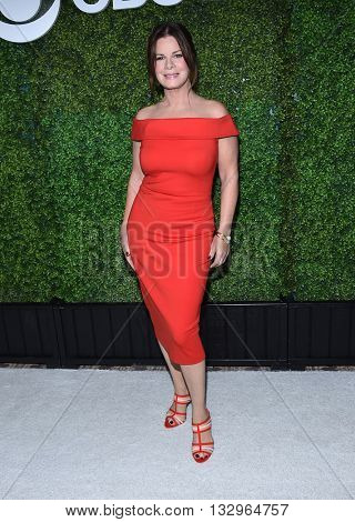 LOS ANGELES - JUN 02:  Marcia Gay Harden arrives to the 2016 CBS Summer Soiree  on June 02, 2016 in Hollywood, CA.