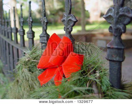 Bow On Iron Fence