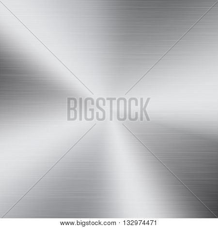 Polished metal texture background. Circular brushed metal texture. Polished metal plate.