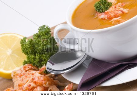 Bowl Of Fishsoup Tilted To The Left