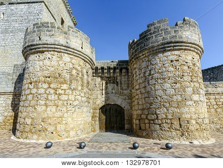 castle built in the XV century located in the town of Portillo in the province of Valladolid Castile and Leon Spain