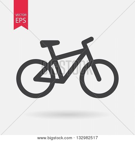 Bike Icon Vector. Flat design. Bike sign isolated on white background