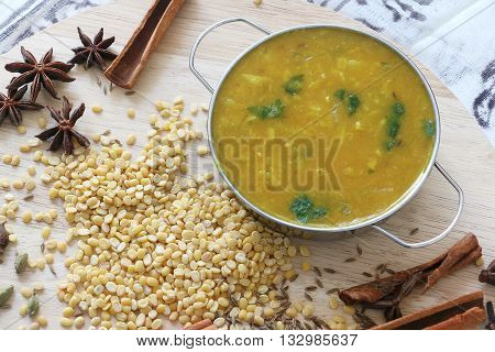 Dal or Lintel soup, Nepali or Indian cuisine normally serve with tibetan bread or rice