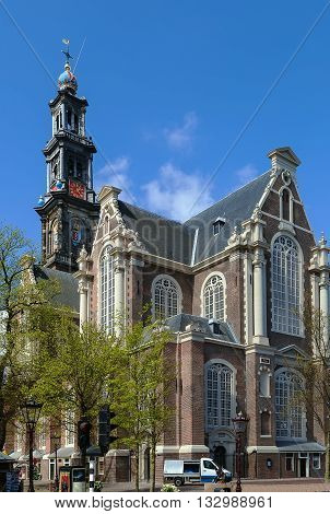 Westerkerk (Western Church) is a Reformed church within Dutch Protestant church in central Amsterdam in the Netherlands. It is on the bank of the Prinsengracht canal