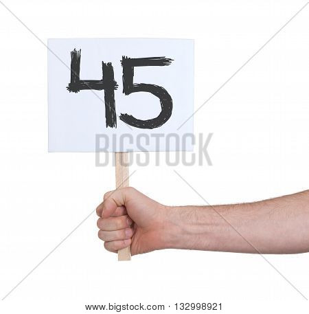 Sign With A Number, 45