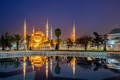 The Sultan Ahmed Mosque or Sultan Ahmet Mosque is a historic mosque in Istanbul Turkey. The mosque is popularly known as the Blue Mosque for the blue tiles . poster