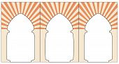 Morrocan arc. Orange ornament eastern style arc. Graphic illustration of arc. Vector. Isolated illustration poster