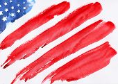 memorial day american flag flag USA flag USA watercolor flag USA hand-drawn flag USA illustration illustration of Fourth of July background for Happy Independence Day of America poster