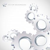 Vector gear background. Abstract illustration. poster