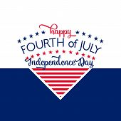 Happy Independence Day - July 4th - Fourth of July Vector - Memorial Day - Flag Day - Patriotic poster