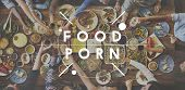 Food Porn Food Eating Party Celebration Concept poster