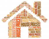House Prices Showing Values Value And Valuations poster