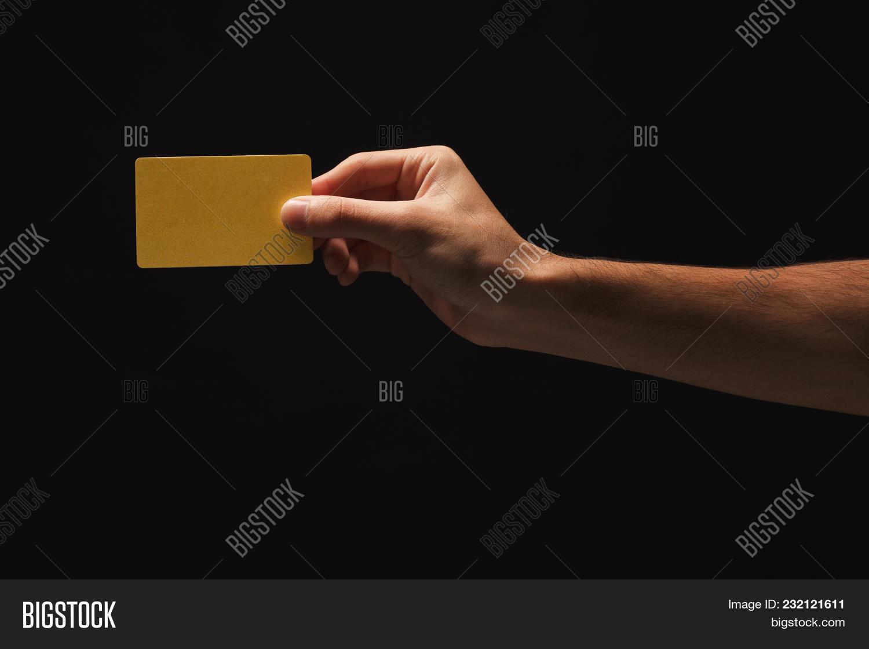 Male Hand Holding Blank Plastic Image & Photo | Bigstock