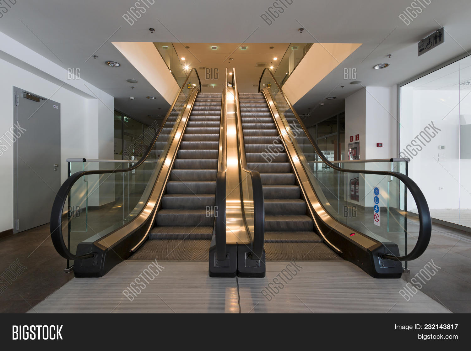Moving Staircase,, Escalator In New Business Building