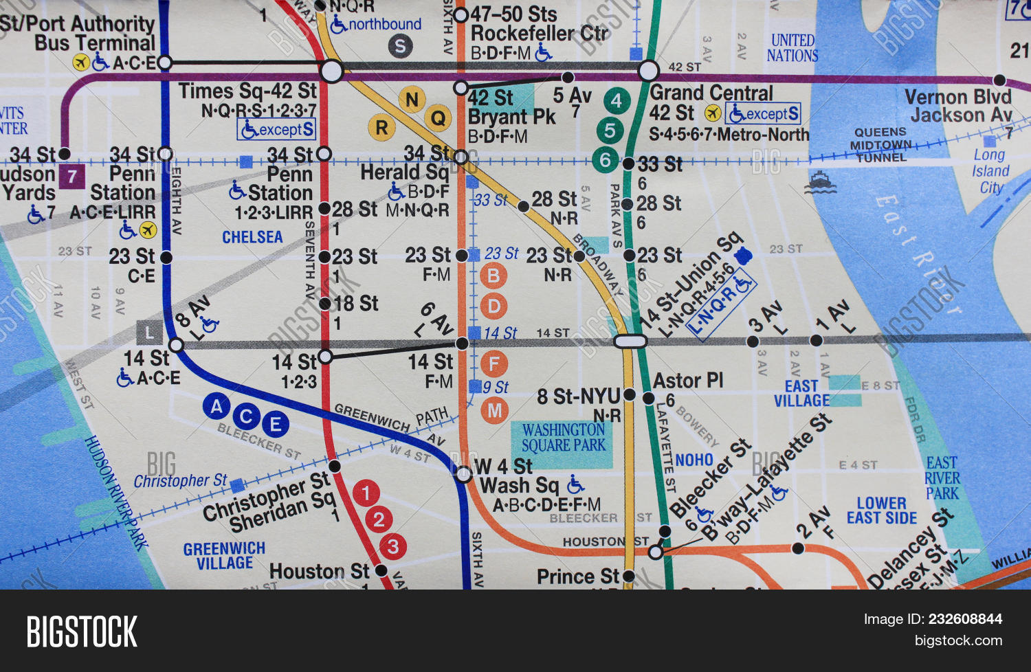 Number 7 Subway Map.New York Ny Usa Image Photo Free Trial Bigstock