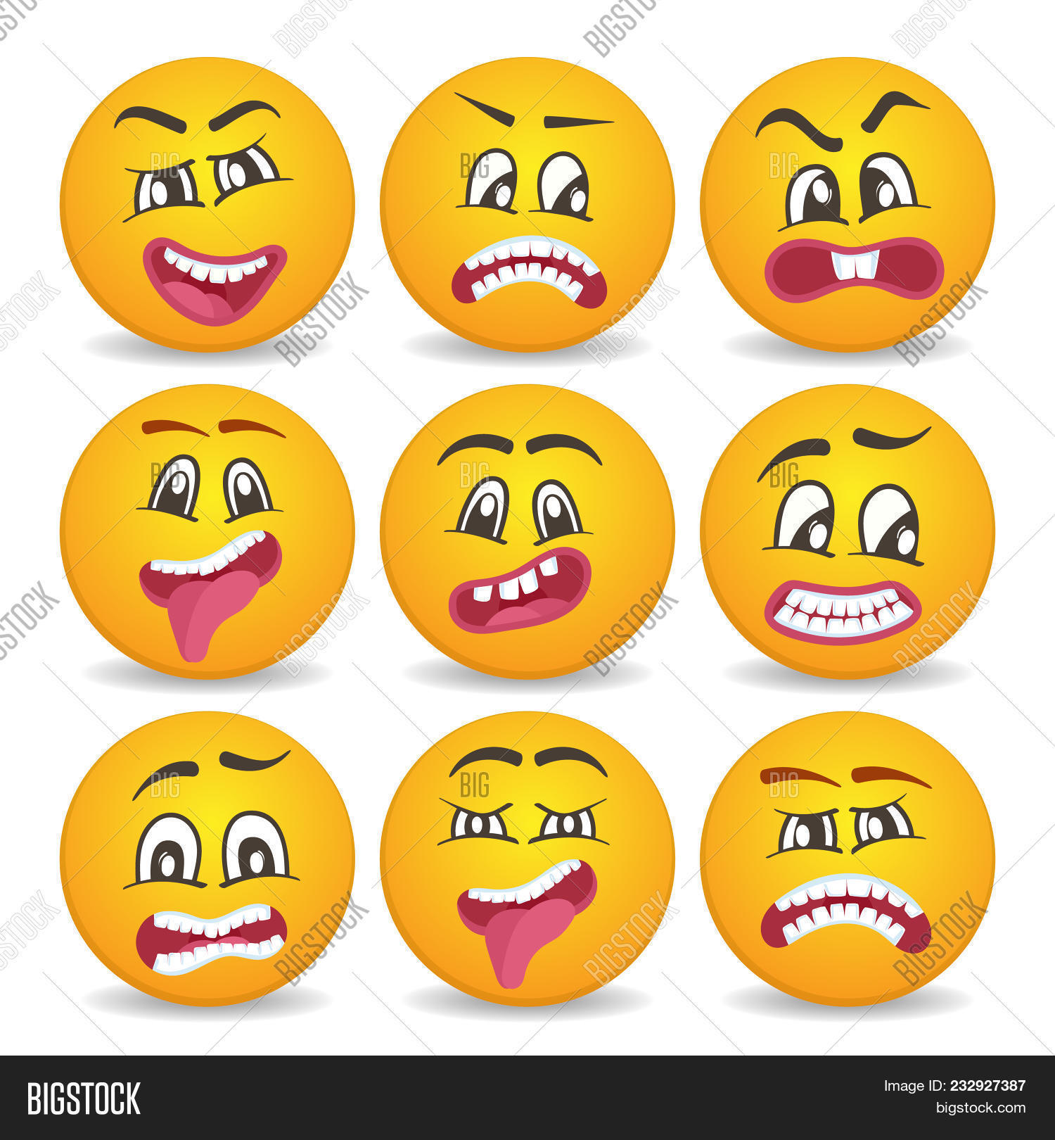 Cute Smiley Faces Image Photo Free Trial Bigstock