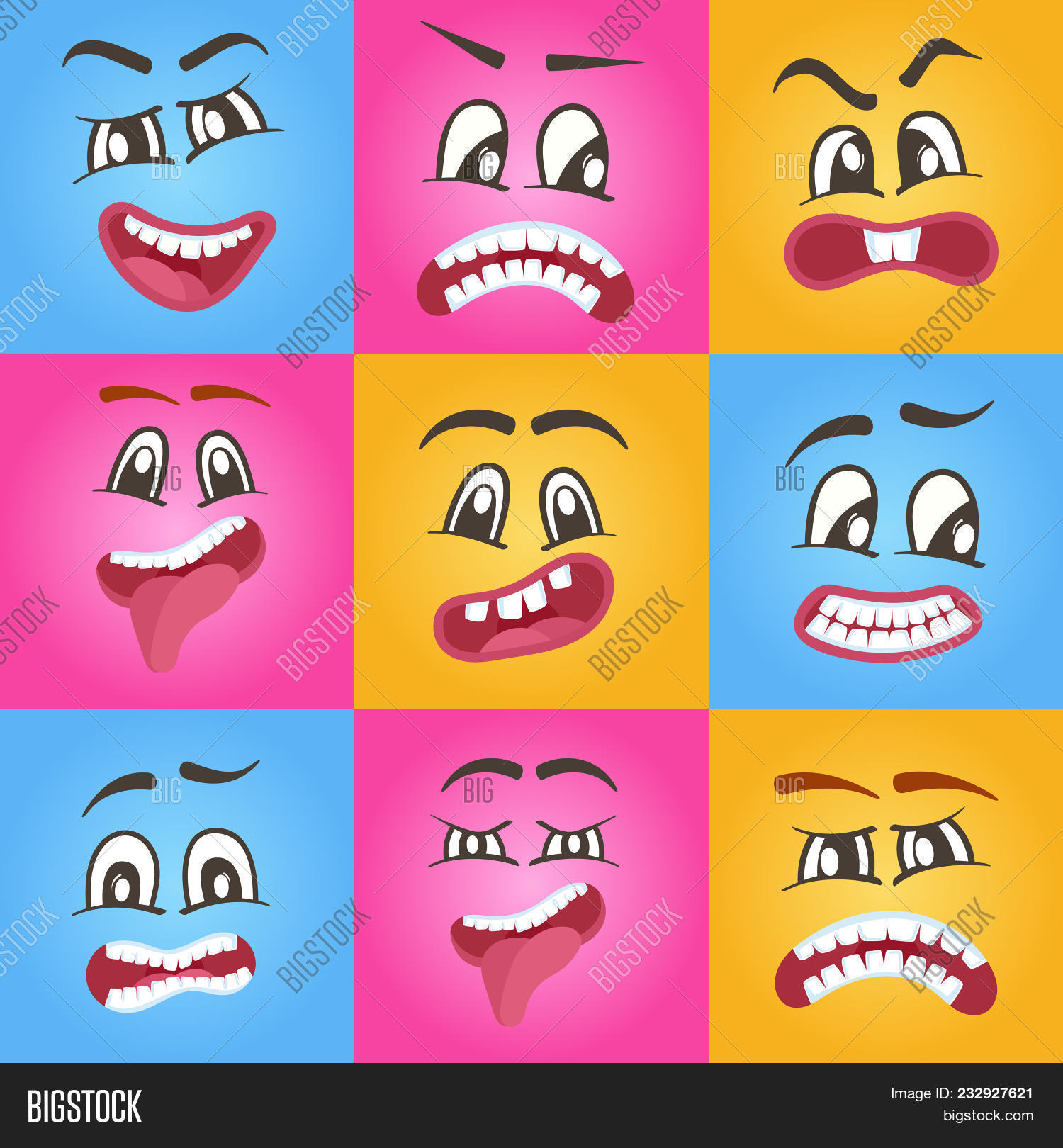 Funny Smileys Faces Image Photo Free Trial Bigstock