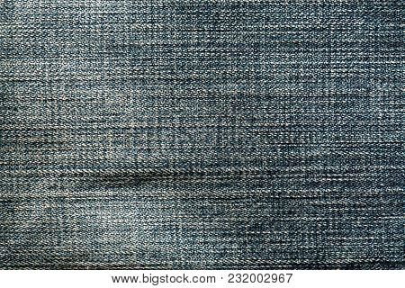 Blue Color Jeans Cloth Pattern. Abstract Background And Texture For Design.