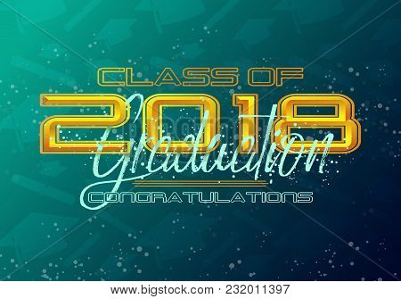 Graduation Label. Vector Text For Graduation Design, Congratulation Event, Party, High School Or Col